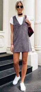 γκρι φόρεμα