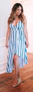 φόρεμα με ρίγες