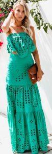 πράσινο φόρεμα