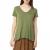 AMERICAN VINTAGE - Γυναικεία κοντομάνικη μπλούζα JAC51E17 AMERICAN VINTAGE πράσινη