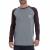 BASEHIT - Αντρική μπλούζα BASEHIT γκρι- καφέ