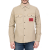 CALVIN KLEIN JEANS - Ανδρικό μακρυμάνικο πουκάμισο CALVIN KLEIN JEANS καφέ