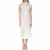 CALVIN KLEIN JEANS - Γυναικείο αμάνικο midi φόρεμα Calvin Klein Jeans εκρού