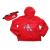 CALVIN KLEIN JEANS KIDS - Παιδικό αντιανεμικό jacket και τσαντάκι CALVIN KLEIN JEANS KIDS κόκκινο