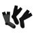 CK UNDERWEAR - Ανδρικό σετ κάλτσες Calvin Klein PATTERNED GIFT BOX μαύρες-γκρι