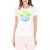 CONVERSE - Γυναικεία κοντομάνικη μπλούζα CONVERSE λευκή