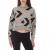 CONVERSE - Γυναικεία μπλούζα φούτερ CONVERSE AOP STAR CHEVRON CROP γκρι