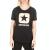 CONVERSE - Γυναικείο t-shirt CONVERSE Embroidered Box Star Easy μαύρο