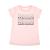 CONVERSE - Παιδικό t-shirt CONVERSE CNVG WORDMARK SHADOW ροζ