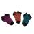 CONVERSE - Σετ από 3 ζευγάρια γυναικείες κάλτσες Converse μοβ, πορτοκαλί & μπλε