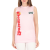 D-SQUARED - Γυναικείο αμάνικο t-shirt D-SQUARED DONNA ροζ
