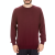DIRTY LAUNDRY - Ανδρική πλεκτή μπλούζα DIRTY LAUNDRY CREW NECK μπορντό