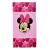 DISNEY - Παιδική πετσέτα θαλάσσης DISNEY MINNIE ροζ (70x140εκ.)
