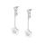FOLLI FOLLIE - Γυναικεία επάργυρα μακριά σκουλαρίκια FOLLI FOLLIE ασημί