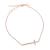 FOLLI FOLLIE - Γυναικείο ασημένιο βραχιόλι FOLLI FOLLIE ροζ χρυσό