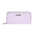 FOLLI FOLLIE - Γυναικείο μεγάλο πορτοφόλι με print φιδιού Folli Follie μοβ