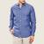 FUNKY BUDDHA - Ανδρικό μακρυμάνικο πουκάμισο FUNKY BUDDHA μπλε