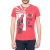 GAS - Ανδρική κοντομάνικη μπλούζα HAVANA GAS κόκκινη