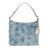 GUESS - Γυναικεία τσάντα ώμου GUESS LOU LOU HOBO γαλάζιο με print