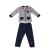 GUESS KIDS - Βρεφικό σετ ζακέτα και παντελόνι φόρμας GUESS KIDS μπλέ ρίγες