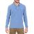 HAMPTONS - Ανδρική μακρυμάνικη πόλο μπλούζα HAMPTONS γαλάζια