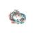 HIPANEMA - Γυναικείο βραχιόλι HIPANEMA CHIHIROE15 τιρκουάζ