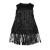JAKIOO - Παιδικό φόρεμα JAKIOO ABITO CON FRANGE μαύρο