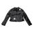 JAKIOO - Παιδικό μπουφάν biker JAKIOO CHIODO STELLE μαύρο