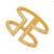 JEWELTUDE - Γυναικείο επίχρυσο δαχτυλίδι Jeweltude