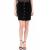 JUICY COUTURE - Γυναικεία μίνι φούστα BONDED VELOUR JUICY COUTURE μαύρη