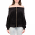 JUICY COUTURE - Γυναικεία ζακέτα RUCHED OFF THE SHOULDER JUICY COUTURE μαύρη