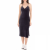 JUICY COUTURE - Γυναικείο midi φόρεμα STRETCH VELOUR TANK μπλε