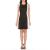 JUICY COUTURE - Γυναικείο mini φόρεμα JUICY COUTURE COLORBLOCK SCUBA μαύρο μπεζ