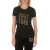 JUICY COUTURE - Γυναικείο t-shirt JUICY COUTURE JUICY STACK μαύρο χρυσό