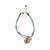 JUICY COUTURE - Γυναικείο βραχιόλι JUICY COUTURE PEARL CORD μωβ χρυσό