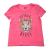 JUICY COUTURE KIDS - Παιδική μπλούζα JUICY COUTURE KIDS JUNGLE QUEEN GRAPHIC φούξια