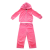 JUICY COUTURE KIDS - Βρεφικό σετ φόρμας JUICY COUTURE KIDS FLORAL CAMEO ροζ