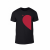 Κοντομάνικη μπλούζα Half Heart μαύρο Χρώμα Μέγεθος M