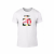 Κοντομάνικη μπλούζα King & Queen 2018 λευκό Χρώμα Μέγεθος M