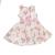 MONNALISA - Κοριτσίστικο φόρεμα MONNALISA ST.TROPEZ ROSE λευκό