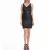MOTIVI - Γυναικείο φόρεμα MOTIVI μαύρο-ανθρακί