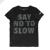 NIKE - Παιδικό κοριτσίστικο t-shirt NIKE DRY NO TO SLOW μαύρο