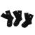 NIKE - Σετ από 3 ζευγάρια κάλτσες μπάσκετ Nike Jordan μαύρες