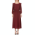 PLEASE IMPERIAL - Γυναικείο μακρύ φόρεμα PLEASE IMPERIAL μπορντό