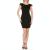 PLEASE IMPERIAL - Γυναικείο mini φόρεμα PLEASE IMPERIAL μαύρο