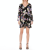 PLEASE IMPERIAL - Γυναικείο mini φόρεμα PLEASE IMPERIAL μαύρο μωβ