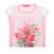 SAM 0-13 - Παιδική κοντομάνικη μπλούζα με λουλούδια SAM 0-13 ροζ