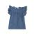 SAM 0-13 - Παιδικό τζιν φόρεμα με βολάν SAM 0-13 μπλε