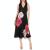 TED BAKER - Γυναικείο midi φόρεμα TED BAKER ULNA MAGNIFICENT μαύρο