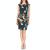 TED BAKER - Γυναικείο μίνι φόρεμα TED BAKER ADILYYN SUPERNATURAL STRUCTURE BODYCON μπλε